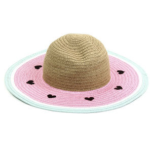 Limited Too Accessories - Pink Watermelon Floppy Sunhat. Heart Shaped Seeds!